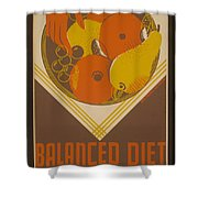 Balanced Diet For The Expectant Mother Inquire At The Health Bureau Shower Curtain