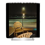 Balcony On The Pacific Oceanside California  Shower Curtain