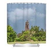 Bald Head Island Lighthouse Shower Curtain