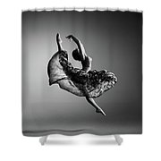 Ballerina Jumping Shower Curtain