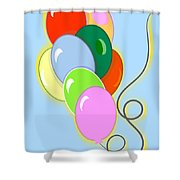 Balloons Of Loose Colors Shower Curtain