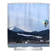 Balloons Over Tegernsee Shower Curtain