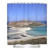 Balos Lagoon Shower Curtain