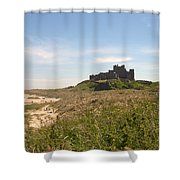 Bamburgh Castle And Beach In Summer Shower Curtain