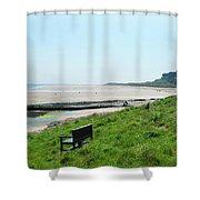Bamburgh Castle And Beach Shower Curtain