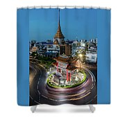 Bangkok Traffic Circle Shower Curtain