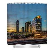 Banking Giants Too Atlanta Midtown Sunset Atlanta Georgia Art Shower Curtain