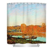Banks Of The Seine Near Bougival - Digital Remastered Edition Shower Curtain