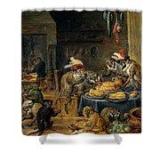 Banquete De Monos   Shower Curtain