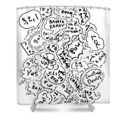 Banter Bubbles From A Comic Creation Shower Curtain