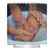 Baptism Of Love Shower Curtain