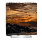 Barbados Sunset Clouds Shower Curtain