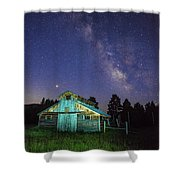 Barn In Rocky 2 Shower Curtain by Gary Lengyel