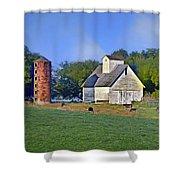 Barn - Silo - Cows Shower Curtain