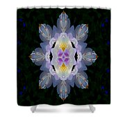 Baroque Fantasy Flowers Ornate Shower Curtain