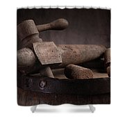 Barrel Tap With Corks Shower Curtain