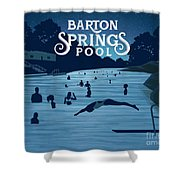 Barton Springs Pool Shower Curtain