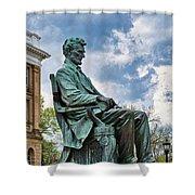 Bascom Hall Lincoln Statue Shower Curtain