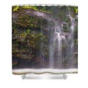 Base Of Waimoku Falls Shower Curtain