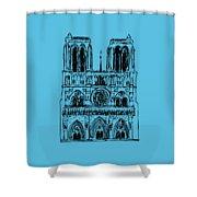 Basilica Notre Dame Shower Curtain