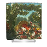Basket Of Flowers  Shower Curtain
