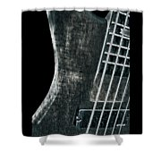 Bass Guitar Musician Player Metal Rock Shower Curtain