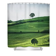Bathed In Emerald Shower Curtain