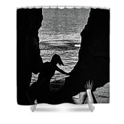 Scene With A Jumping Thing Shower Curtain