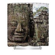 Bayon Faces, Angkor Wat, Cambodia Shower Curtain