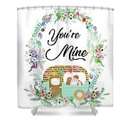 Be In Love Shower Curtain