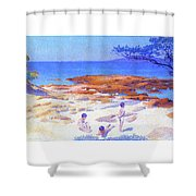 Beach At Cabasson - Digital Remastered Edition Shower Curtain