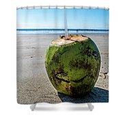 Beach Coconut Shower Curtain