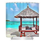 Beach Hut Shower Curtain