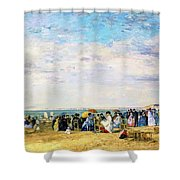 Beach Of Trouville - Digital Remastered Edition Shower Curtain