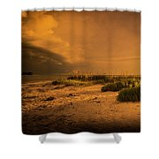 Beach Storm Front Shower Curtain