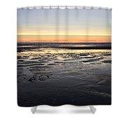 Beach Sunset, Blackpool, Uk 09/2017 Shower Curtain