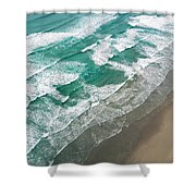 Beach Waves From Above Shower Curtain
