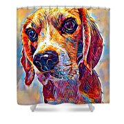 Beagle 3 Shower Curtain