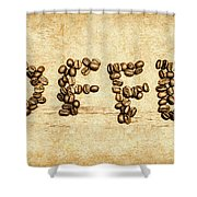 Bean Making Coffee Shower Curtain