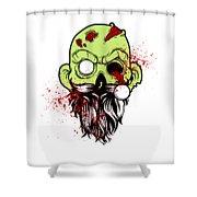 Bearded Zombie Undead With Beard Halloween Party Light Shower Curtain