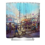 Beaufort Summer Color Shower Curtain
