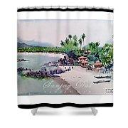 Beautiful Beach In Goa India Shower Curtain