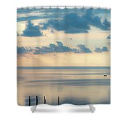 Beautiful Clouds Over Pamlico Sound Shower Curtain