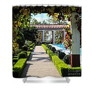 Beautiful Courtyard Getty Villa  Shower Curtain