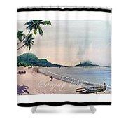 Beautiful Goa Beach Shower Curtain