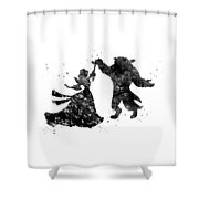 Beauty And The Beast Dancing Shower Curtain