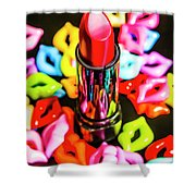 Beauty Lips And Makeup Tips Shower Curtain