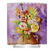 Beauty On Bouquet Shower Curtain