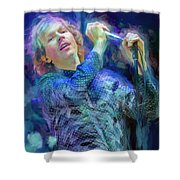 Beck Singer Songwriter Shower Curtain