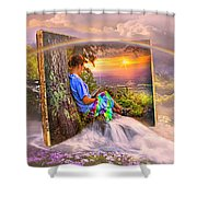 Becoming Part Of The Story In Watercolors Shower Curtain